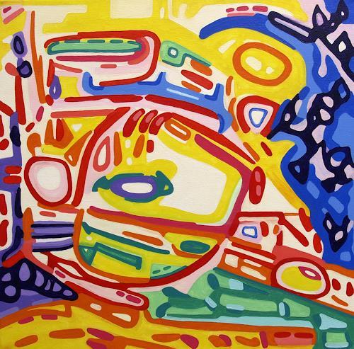 Jens Jacobfeuerborn, Im Vorbeifahren, Abstraktes, Verkehr: Auto, Abstrakte Kunst