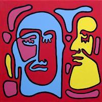 Jens-Jacobfeuerborn-Fantasie-Menschen-Gesichter-Moderne-Pop-Art