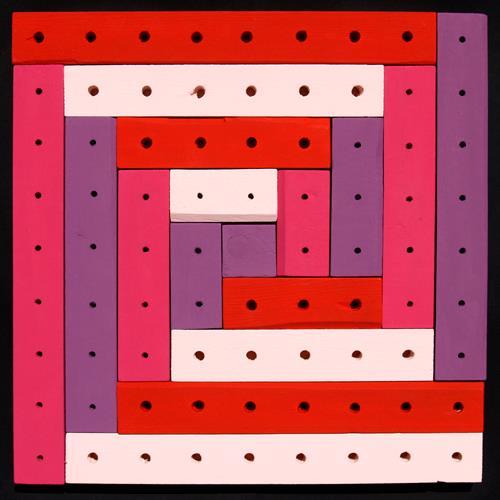 Jens Jacobfeuerborn, Lattenbild für Mädchen (Holzobjekt 4), Abstraktes, Dekoratives, Abstrakte Kunst