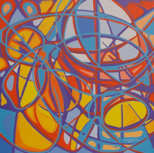 Jens Jacobfeuerborn, ein christliches Bild, Abstraktes, Fantasie, Gegenwartskunst