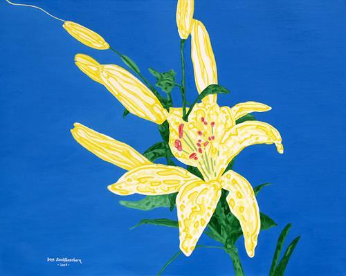 Jens Jacobfeuerborn, gelbe Lilie, Pflanzen: Blumen, Gegenwartskunst