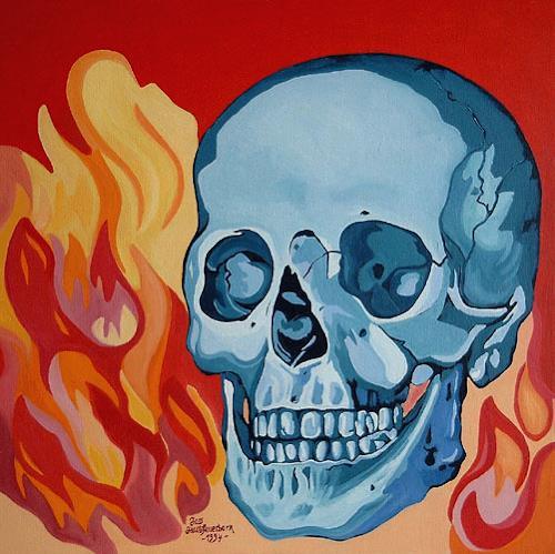 Jens Jacobfeuerborn, Totenkopf, Natur: Feuer, Tod/Krankheit, Gegenwartskunst