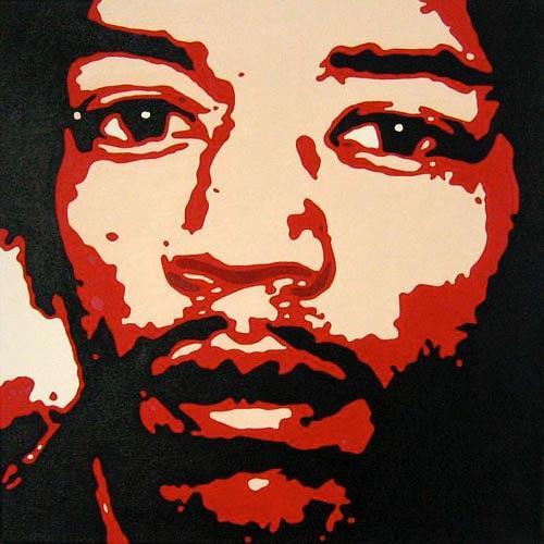 Jens Jacobfeuerborn, Jimi Hendrix, Musik: Musiker, Menschen: Porträt, Pop-Art