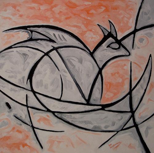 Jens Jacobfeuerborn, atomic rooster Ziege,oder (der Geist von Venedig), Abstraktes, Fantasie, Gegenwartskunst