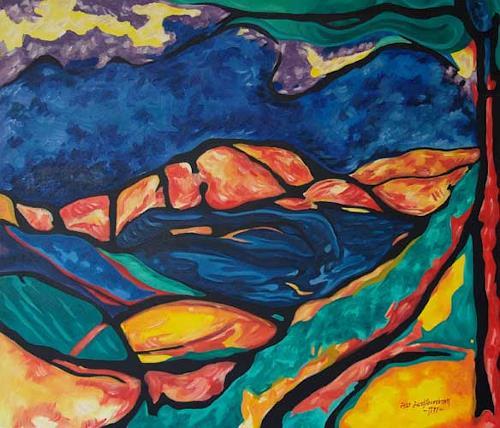 Jens Jacobfeuerborn, Expression, Landschaft: Berge, Fantasie, Expressionismus