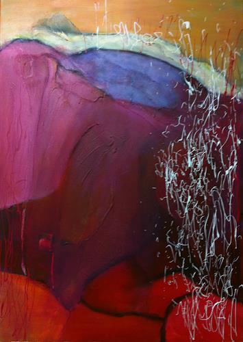 Ilona Felizitas Hetmann, Rot III, Abstraktes, Gefühle: Freude, Abstrakte Kunst, Expressionismus