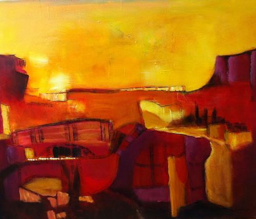 Ilona Felizitas Hetmann, Landschaft, Abstraktes, Abstrakte Kunst
