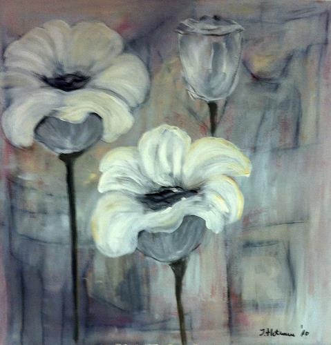 Ilona Felizitas Hetmann, Blumen, Dekoratives, Abstrakte Kunst