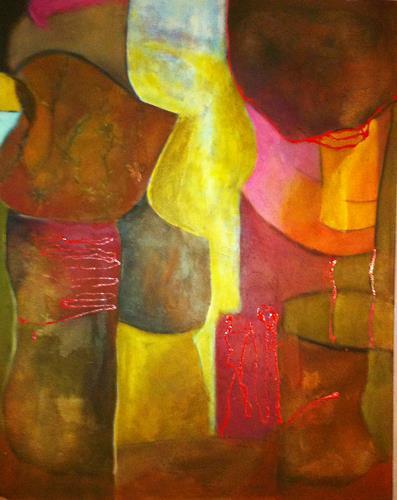Ilona Felizitas Hetmann, Ebenen, Dekoratives, Abstrakte Kunst