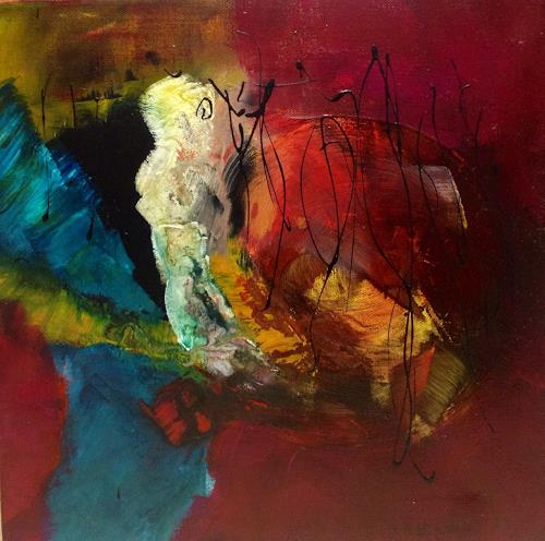Ilona Felizitas Hetmann, Begegnung 1, Abstraktes, Dekoratives