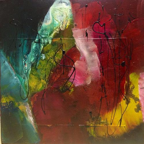 Ilona Felizitas Hetmann, Begegnung2, Abstraktes, Dekoratives