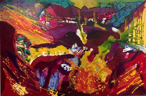 Ilona Felizitas Hetmann, Landschaft, Abstraktes, Abstrakter Expressionismus