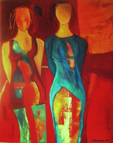 Ilona Felizitas Hetmann, 2 Damen, Abstraktes, Abstrakte Kunst