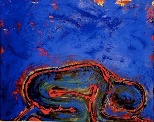 Katrin Klug, Die Ruhe, Gefühle: Geborgenheit, Menschen: Frau, Abstrakter Expressionismus