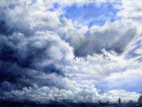 MarianaS, Himmel über Norway, Diverse Landschaften, Natur: Luft, Realismus, Expressionismus