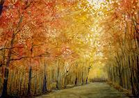 Marianas-Landschaft-Herbst-Natur-Wald-Neuzeit-Realismus
