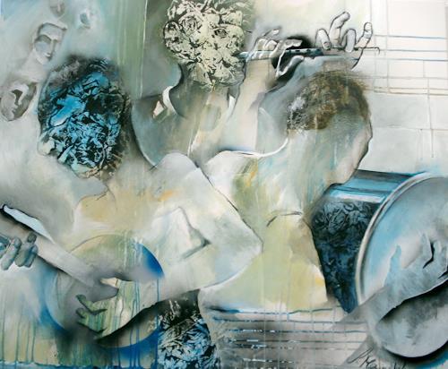 Sabine Maier, DREIKLANG, Musik: Musiker, Gefühle: Freude, Gegenwartskunst, Abstrakter Expressionismus