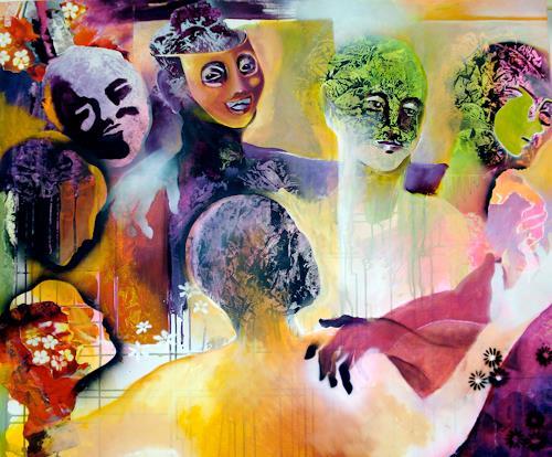 Sabine Maier, UNTERM HOLLERBUSCH, Bewegung, Karneval, Abstrakter Expressionismus