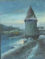 Margareta-Schaeffer-Landschaft-Winter-Landschaft-Winter-Moderne-Impressionismus