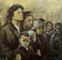 Margareta-Schaeffer-Menschen-Gruppe-Menschen-Gesichter-Moderne-Impressionismus