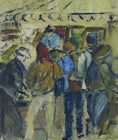 Margareta-Schaeffer-Menschen-Gruppe-Menschen-Moderne-Impressionismus