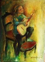 Margareta-Schaeffer-Menschen-Kinder-Musik-Instrument-Moderne-Impressionismus
