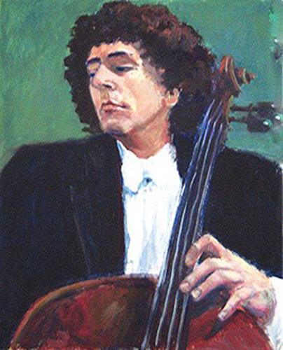 Margareta Schaeffer, Der Cellist, Menschen: Mann, Musik: Musiker, Impressionismus, Expressionismus