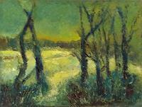 Margareta-Schaeffer-Landschaft-Landschaft-Winter-Moderne-Impressionismus