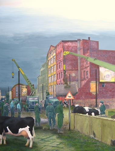 Paul Wans, Ohne Titel (Hommage an Klaus Lehnartz), Gesellschaft, Geschichte, Realismus, Abstrakter Expressionismus