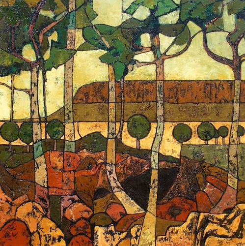 Jonny Lüpkes, Mount Connor, Central Australien, Landschaft, Landschaft: Berge, Gegenwartskunst