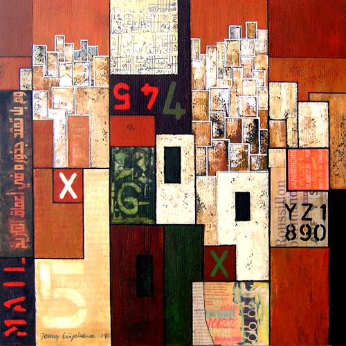 Jonny Lüpkes, O.T., Abstraktes, Architektur, Gegenwartskunst