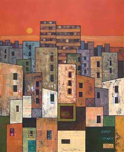 Jonny Lüpkes, The City, Diverse Landschaften, Architektur, Gegenwartskunst