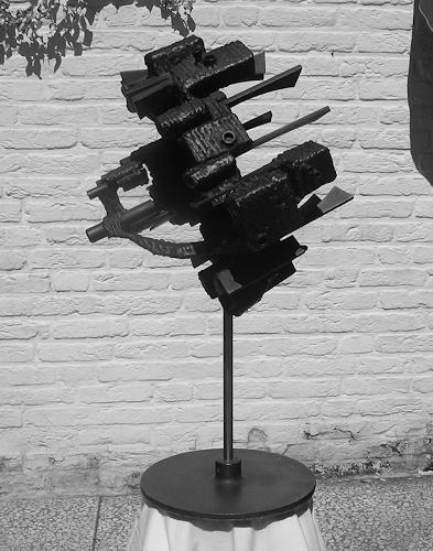 Jonny Lüpkes, Eisenplastik, Abstraktes, Technik, Gegenwartskunst