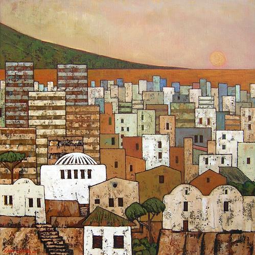 Jonny Lüpkes, Altstadt (Tunis), Landschaft, Diverse Bauten, Gegenwartskunst