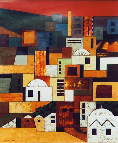 Jonny Lüpkes, Blue Mountains, Landschaft, Landschaft: Berge, Gegenwartskunst, Expressionismus
