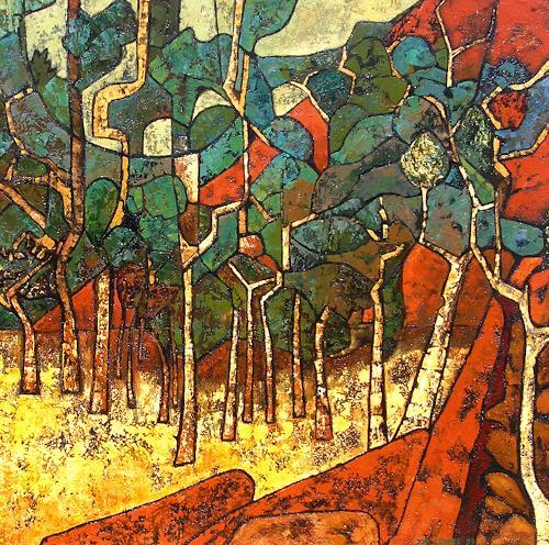 Jonny Lüpkes, Uluru Environment, Landschaft, Landschaft: Berge, Gegenwartskunst