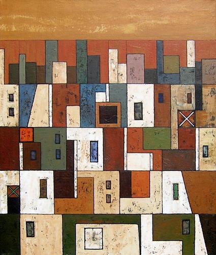 Jonny Lüpkes, O/T, Landschaft, Architektur, Gegenwartskunst