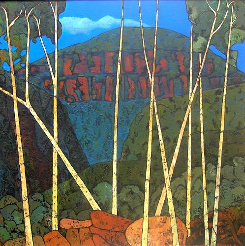 Jonny Lüpkes, North Katoomba Bush, Landschaft: Ebene, Landschaft, Moderne