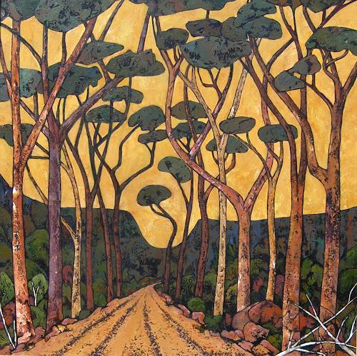 Jonny Lüpkes, Road to Moree ,NSW, Landschaft, Pflanzen, Gegenwartskunst