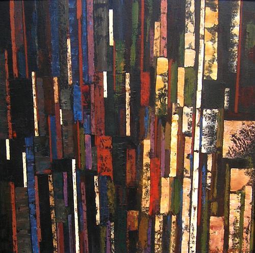 Jonny Lüpkes, Ohne Titel, Abstraktes, Architektur, Moderne, Expressionismus