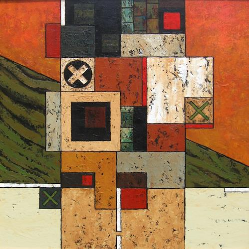 Jonny Lüpkes, Stele, Architektur, Abstraktes, Moderne
