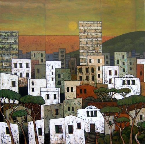 Jonny Lüpkes, Saburban / Maghreb, Landschaft, Architektur, Gegenwartskunst