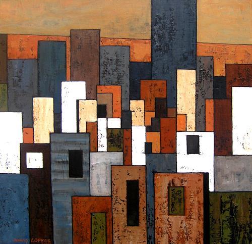 Jonny Lüpkes, Ohne Titel, Architektur, Abstraktes, Moderne