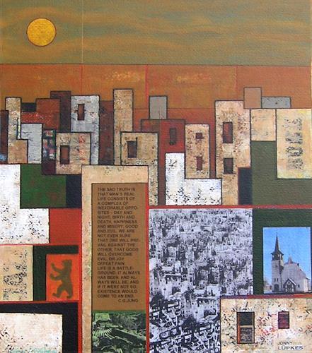 Jonny Lüpkes, Kinetische Plastik (Maquette), Landschaft, Abstraktes, Moderne