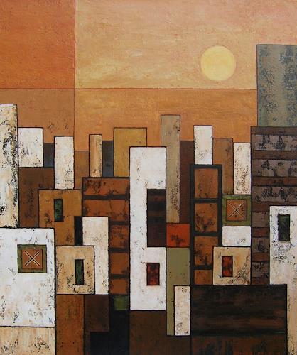 Jonny Lüpkes, O/T, Landschaft, Abstraktes, Gegenwartskunst, Expressionismus