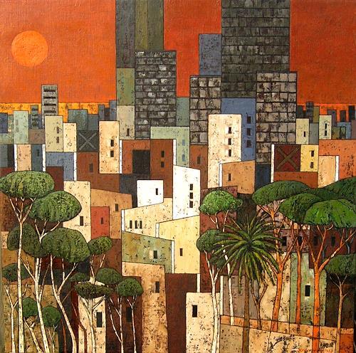 Jonny Lüpkes, Metropolis X, Landschaft, Architektur, Gegenwartskunst