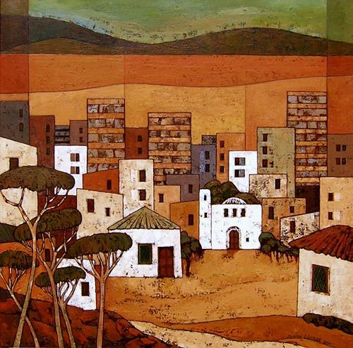 Jonny Lüpkes, Urban/Maghreb, Landschaft, Architektur, Gegenwartskunst, Expressionismus