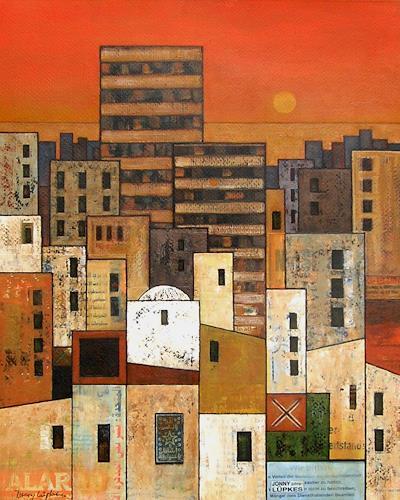 Jonny Lüpkes, The City, Landschaft, Architektur, Gegenwartskunst