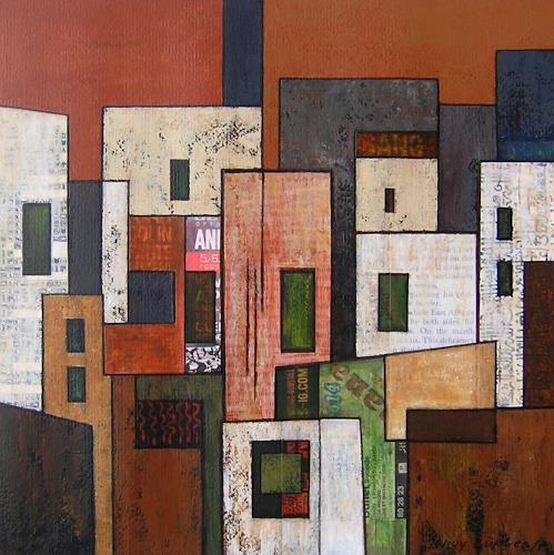 Jonny Lüpkes, O. T., Landschaft, Architektur, Gegenwartskunst
