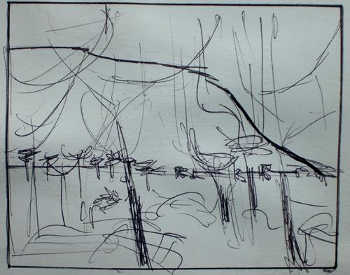 Jonny Lüpkes, Landschaft in Südaustralien, Landschaft: Berge, Landschaft: Ebene, Gegenwartskunst